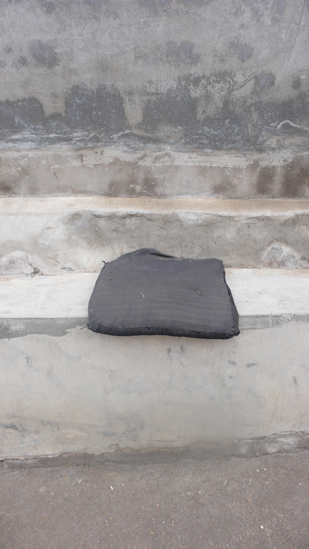 cushion on bench ledge