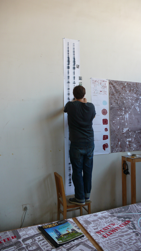 mounting the work
