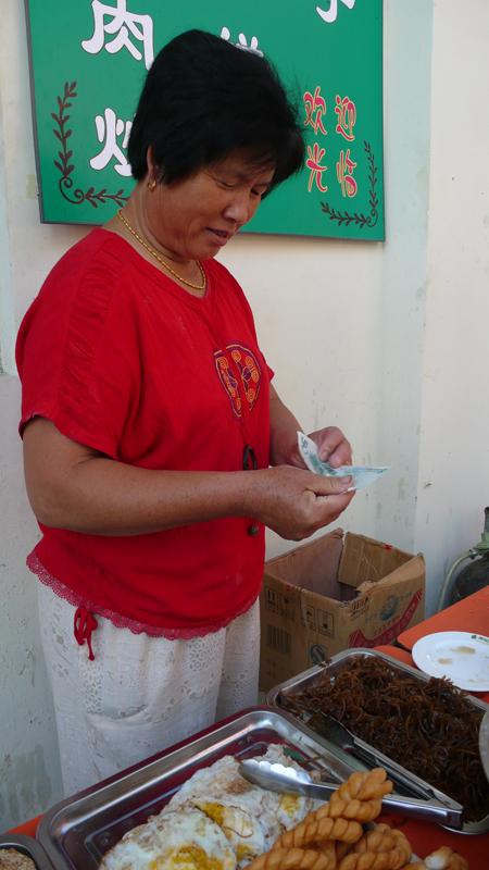 selling dumplings