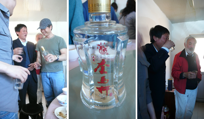 drinking baijou w/township leader